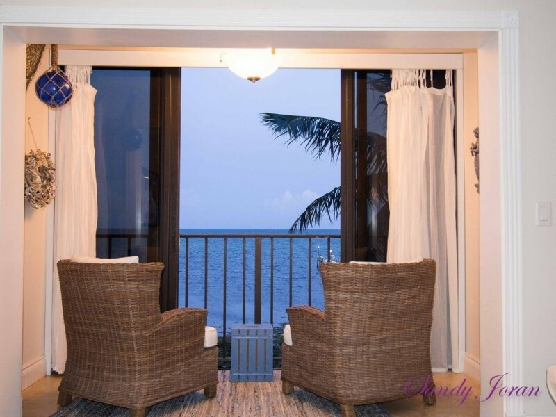 view of the ocean in the balcony